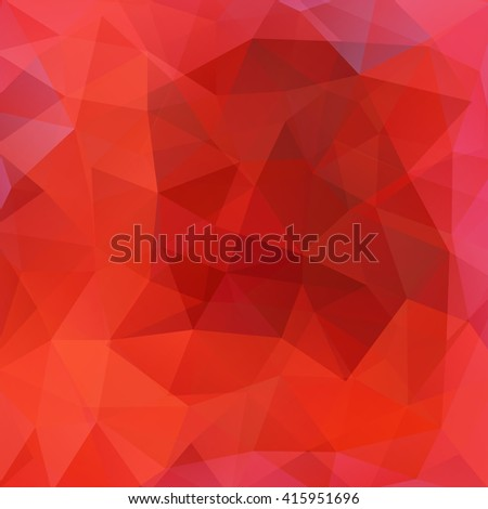 Polygonal vector background. Can be used in cover design, book design, website background. Vector illustration. Red, orange colors.  - stock vector