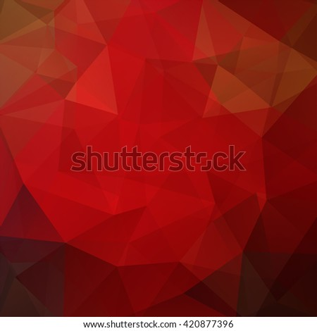 Polygonal vector background. Can be used in cover design, book design, website background. Vector illustration. Red, brown colors.  - stock vector