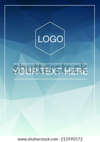 Polygonal vertical greeting card mockup - stock vector