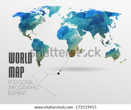 Polygonal world map information graphics world vector de polygonal world map and information graphics world map and typography gumiabroncs