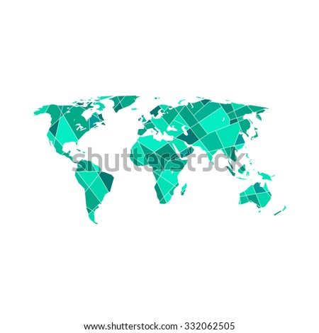 Polygonal world map vector illustration vector de stock332062505 polygonal world map vector illustration gumiabroncs Gallery