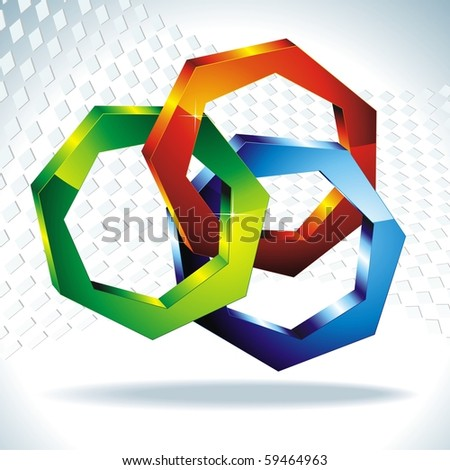 polygons 3d. Geometric shapes. Vector - stock vector