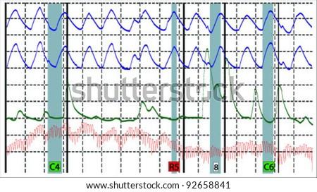 polygraph vector - stock vector