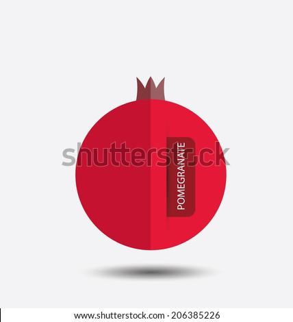 pomegranate, fruit vector illustration - stock vector