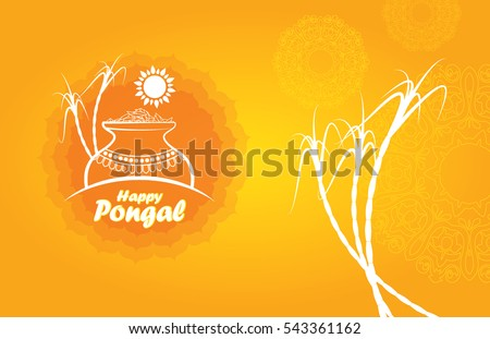 Pongal design template rice mud sugarcane stock vector 543361162 pongal design template with rice mud sugarcane and sun in abstract yellow background south indian toneelgroepblik Gallery