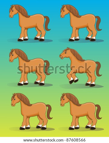 Pony isolated - stock vector