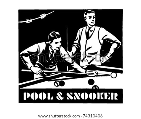 Pool And Snooker - Retro Ad Art Banner