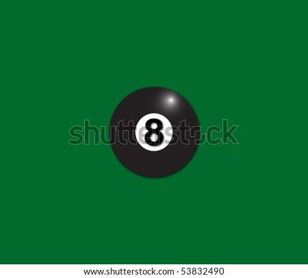 Pool ball. Billiard ball number nine. - stock vector