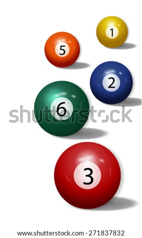 Pool Balls - Billiard Background. Vector - stock vector