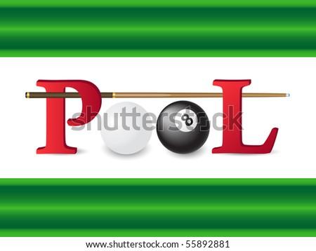 pool billiards vector illustration - stock vector