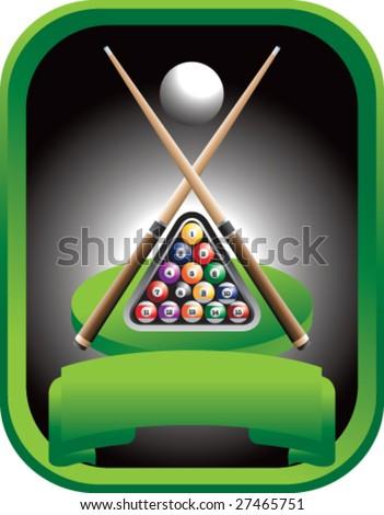 pool championship - stock vector
