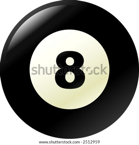 pool eight ball - stock vector