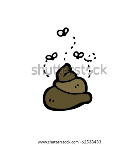 poop cartoon - stock vector