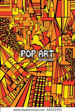 Pop art background - stock vector