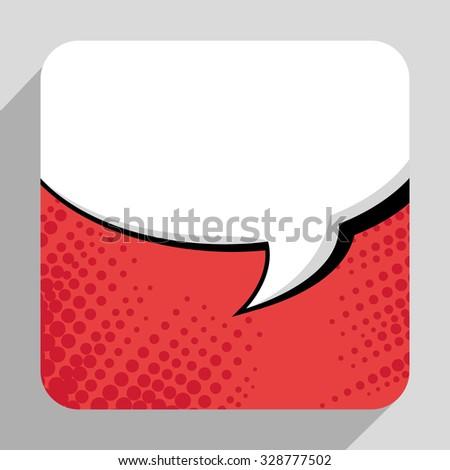 Pop art bubble comic graphic design, vector eps10. - stock vector