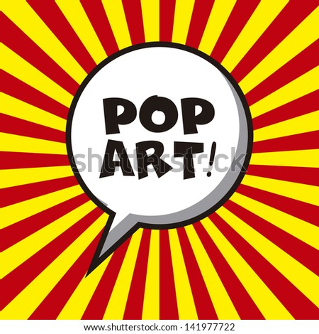 Pop Art Design Pop Art Design Over Lines Background Vector Illustration Stock