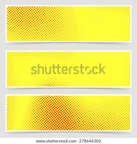 Pop-art dotted retro style yellow flyer collection old comic book polka dot template. Vector illustration - stock vector