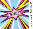 Pop Art KAPOW - stock vector