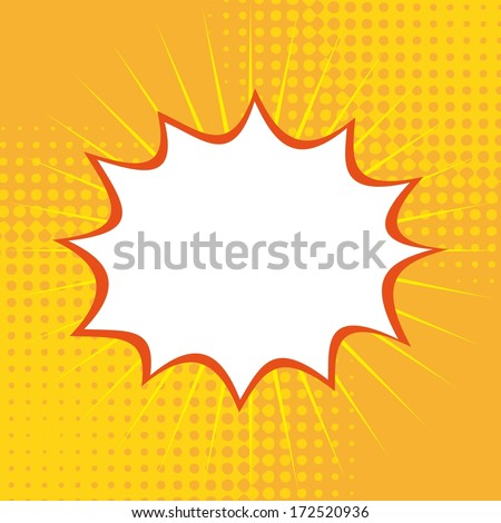 pop art   over   yellow background vector illustration - stock vector