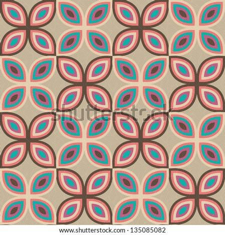 pop art pattern, abstract seamless texture; kaleidoscope vector pattern - stock vector