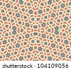 pop art pattern, abstract seamless texture; vector art illustration - stock vector
