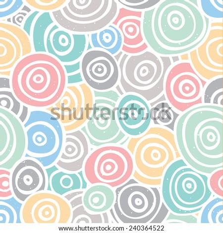 Pop art style retro seamless vector background pattern - stock vector
