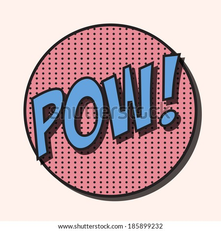 pop art text bubble, illustration in vector format - stock vector