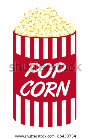 pop corn cartoon isolated over white background. vector