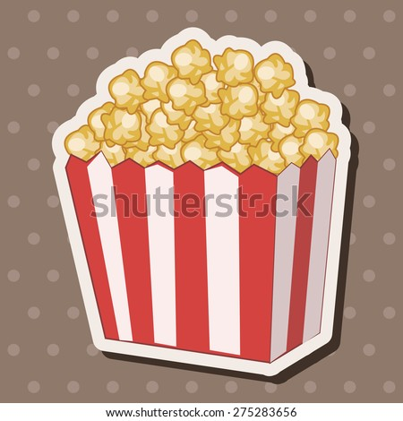 pop corn theme elements - stock vector
