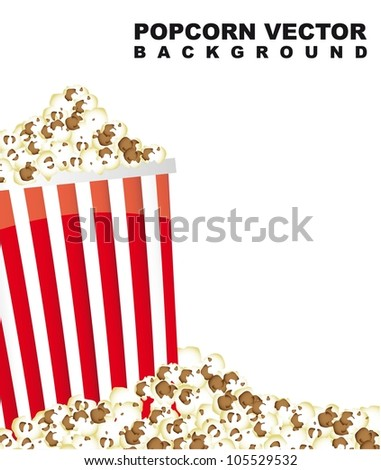 pop corn with space for copy. vector illustration - stock vector