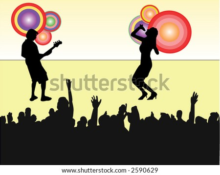 pop party illustration - stock vector