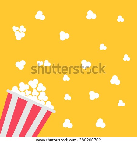 Popcorn bag. Cinema icon in flat design style. Vector illustration - stock vector