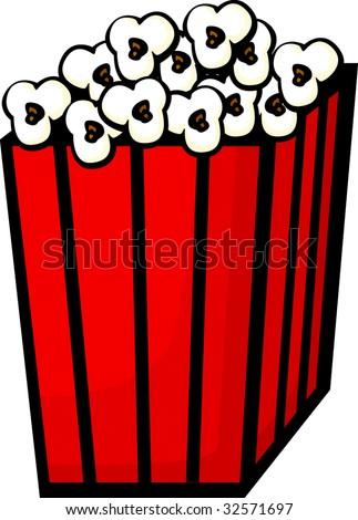 popcorn bag or box - stock vector