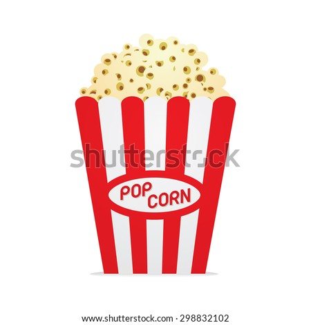 popcorn box vector illustration