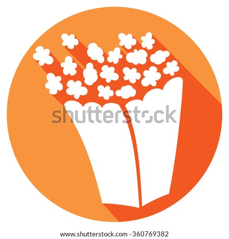popcorn flat icon - stock vector