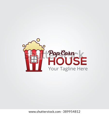 Popcorn house factory logo template design stock vector 389954812 popcorn house factory logo template design pronofoot35fo Image collections