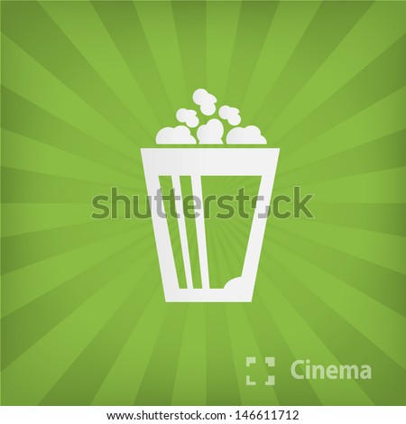popcorn icon - stock vector