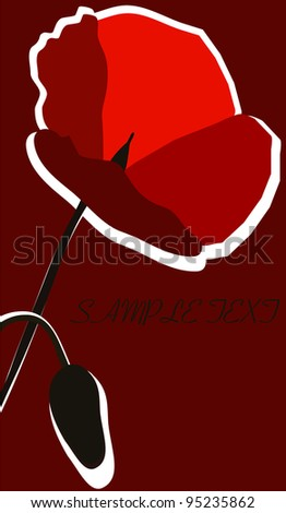 poppy flower - stock vector