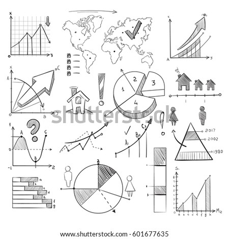 Population demography doodle vector infographic hand stock vector population demography doodle vector infographic with hand drawn charts pie graphs diagrams world ccuart Choice Image