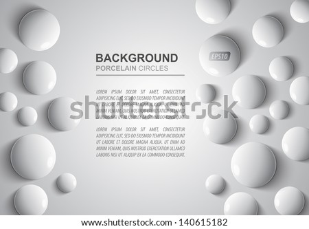 porcelain circles - abstract background eps10 - stock vector