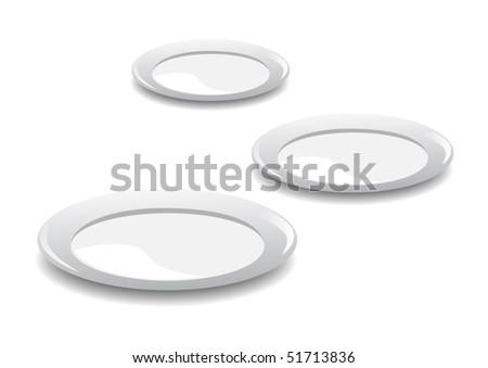 Porcelain plate - stock vector