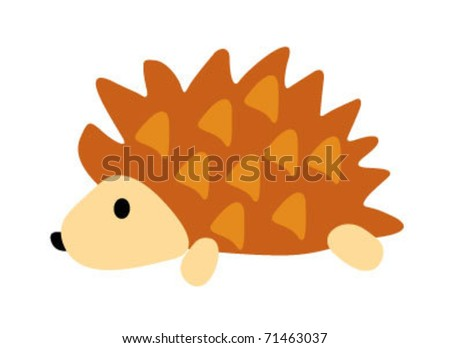 porcupine illustration - stock vector
