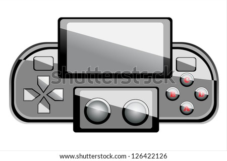 Portable game console - stock vector