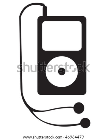 portable music device - stock vector