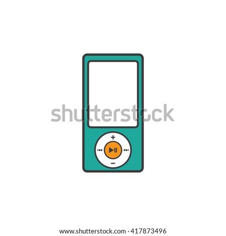 Portable Music Player Icon - stock vector