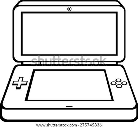 portable videogame - stock vector