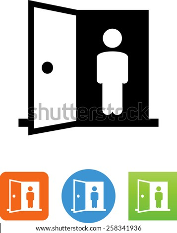 Portal symbol for download. Vector icons for video, mobile apps, Web sites and print projects.  - stock vector