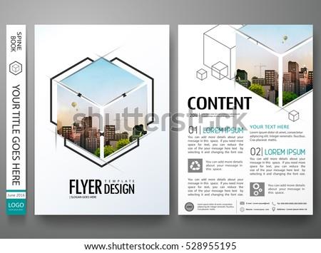 portfolio design template vectorminimal brochure report stock vector 528955195 shutterstock. Black Bedroom Furniture Sets. Home Design Ideas