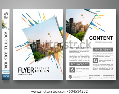 Portfolio design template vector.Minimal brochure report business flyers magazine poster.Abstract colorful fireworks on cover book presentation.City concept in A4 layout size.