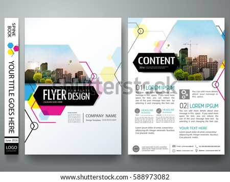 Portfolio Design Template Vector Minimal Brochure Report Stock ...
